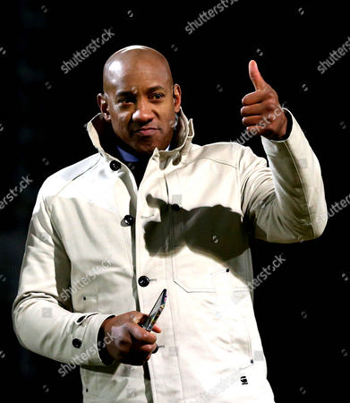 Former Cambridge United striker Dion Dublin works for BT Sport at Cambridge United v Leeds United in the FA Cup