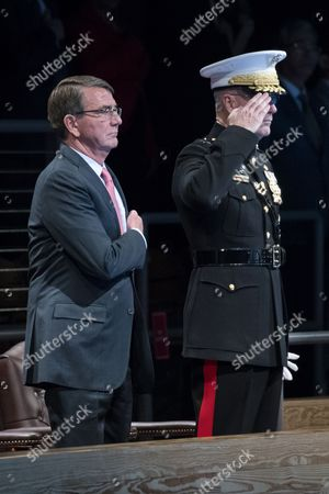 Editorial image of Armed Forces Full Honor Review Farewell Ceremony in Honor of Secretary of Defense Ashton Carter, Arlington, USA - 09 Jan 2017