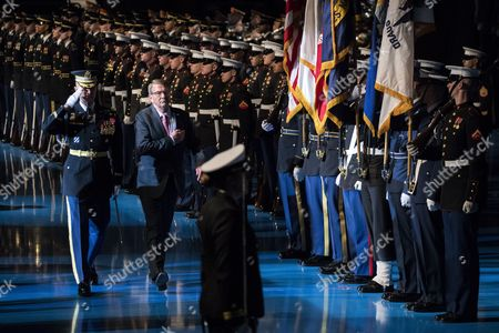 Editorial picture of Armed Forces Full Honor Review Farewell Ceremony in Honor of Secretary of Defense Ashton Carter, Arlington, USA - 09 Jan 2017