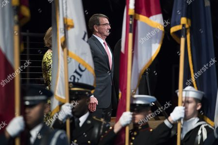 Editorial photo of Armed Forces Full Honor Review Farewell Ceremony in Honor of Secretary of Defense Ashton Carter, Arlington, USA - 09 Jan 2017