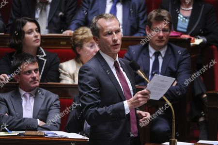 French Junior Minister For the Agroalimentary Industry Guillaume Garot Gives a Speech During a Parliamentary Session of Questions to the Government at the Parliament in Paris France 09 October 2012 France's National Assembly on Tuesday Overwhelmingly Backed Ratifying the European Fiscal Compact with 477 Votes in Favour Compared with 70 Against France Paris