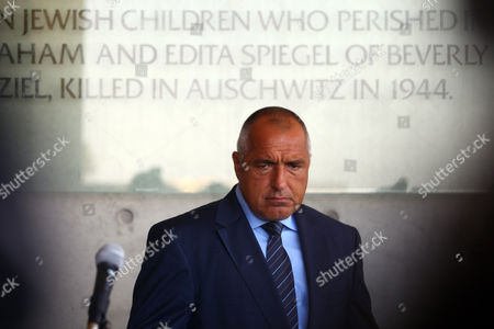 Bulgarian Prime Minister Boyko Borissov After Signing the Guest Book During His Visit at the Yad Vashem Holocaust Museum in Jerusalem 11 September 2012 Borissov is on a Working Visit to Israel Israel Jerusalem