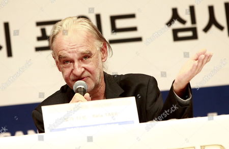 Bela Tarr Jury Head and Director From Hungary Speaks During the New Currents Jury Press Conference on the 17th Busan International Film Festival (biff) Plaza in Busan South Korea 05 October 2012 the Biggest Film Festival in Asia Showcases 307 Films From 75 Countries From 04 to 13 October in Busan Korea, Republic of Busan