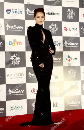 Stock Picture of South Korean Actress Park Si-yeon Arrives at the Opening Ceremony of the 17th Busan International Film Festival (biff) Plaza in Busan South Korea 04 October 2012 the Festival Runs From 04 to 13 October 2012 Korea, Republic of Busan