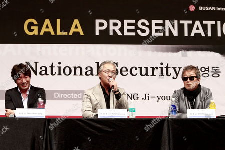 South Korean Actors (l-r) Park Weon-sang Lee Kyeong-yeong and Myung Gye-nam Speak During the Gala Presentation of the Movie 'National Security: Namyoungdong 1985' by South Korean Director Chung Ji-young at the 17th Busan International Film Festival (biff) in Busan South Korea 06 October 2012 the Biggest Film Festival in Asia Showcases 307 Films From 75 Countries From 04 to 13 October in Busan Korea, Republic of Busan