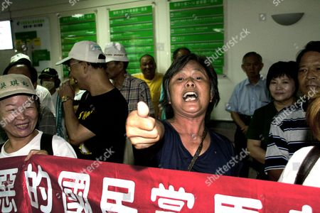 Supporters of Former Taiwanese President Chen Shui-bian Shout Slogans As Chen is About to Leave the Taoyuan General Hospital After a Medical Checkup in Taoyuan Northern Taiwan on 11 September 2012 Chen President From 2000 Until 2008 is Serving a 17-and-a-half-year Jail Term For Corruption Chen Supporters Were Demanding President Ma Ying-jeou to Release Chen Or Grant Him Medical Parole Saying Chen's Health is Deteriorating and He Might Die in Jail Soon Taiwan Taoyuan