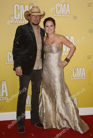 Us Singer Jason Aldean and His Wife Jessica Aldean (r) Arrive For the 46th Annual Country Music Awards in Nashville Tennessee Usa 01 November 2012 Cma Awards Are Given in 12 Categories Voted on by Music Industry Professionals in the Country Music Association United States Nashville