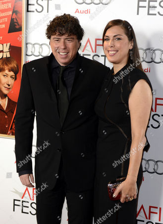 Uk Director Sacha Gervasi (l) Arrives with His Wife Jessica De Rothschild (r)for the Hitchcock Gala Screening at the Grauman's Chinese Theatre in Hollywood California Usa 01 November 2012 United States Hollywood
