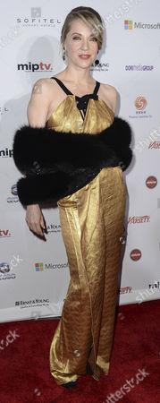 Mexican Actress Edith Gonzalez Arrives at the 40th International Emmy Awards Gala Held at the Hilton Hotel Mercury Ballroom New York City New York Usa 19 November 2012 United States New York City