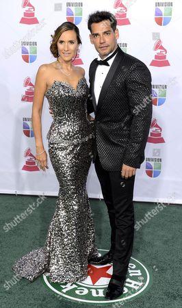 Chilean Actor Christian De La Fuente (r) and Angelica Castro Arrive For the 13th Annual Latin Grammy Awards in Las Vegas Nevada Usa 15 November 2012 United States Las Vegas
