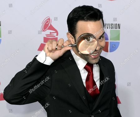 Stock Photo of Puerto Rican Musician Erick Cuesta Arrives For the 13th Annual Latin Grammy Awards in Las Vegas Nevada Usa 15 November 2012 United States Las Vegas