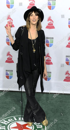 Stock Picture of Argentinian Singer Deborah De Corral Arrives For the 13th Annual Latin Grammy Awards in Las Vegas Nevada Usa 15 November 2012 United States Las Vegas