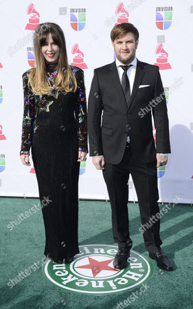 Peruvian Singer Pamela Rodriguez (l) and Composer David Little (r) Arrive For the 13th Annual Latin Grammy Awards in Las Vegas Nevada Usa 15 November 2012 United States Las Vegas