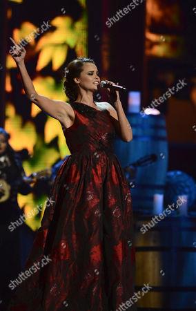 Spanish Singer Shaila Durcal Performs Onstage During the 13th Annual Latin Grammy Awards in Las Vegas Nevada Usa 15 November 2012 United States Las Vegas