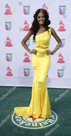 Stock Image of Miss Dominican Republic Chantel Martinez Arrives For the 13th Annual Latin Grammy Awards in Las Vegas Nevada Usa 15 November 2012 United States Las Vegas
