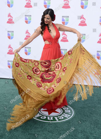 Stock Image of Spanish Artist Diana Navarro Arrives For the 13th Annual Latin Grammy Awards in Las Vegas Nevada Usa 15 November 2012 United States Las Vegas