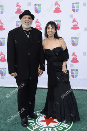 Mexican-american Musician Poncho Sanchez (l) and His Wife Stella Sanchez Arrive For the 13th Annual Latin Grammy Awards in Las Vegas Nevada Usa 15 November 2012 United States Las Vegas