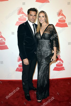 Stock Image of Chilean Actor Christian De La Fuente(l) Arrives with an Unidentified Companion For the Xiii Annual Latin Grammy Person of the Year Tribute at the Mgm Grand Hotel and Casino in Las Vegas Nevada Usa 14 November 2012 Brazilian Singer Caetano Veloso is Receiving the Person of the Year Tribute United States Las Vegas