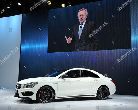 Stock Picture of Dr Joachim Schmidt Executive Vice President of Mercedes-benz Cars Sales & Marketing Introduces the New Cla 25 Amg to the Media at the 2013 New York Auto Show at the Javits Center in New York New York Usa 27 March 2013 the New York International Auto Show Runs 29 March - 07 April 2013 United States New York