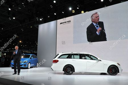 Dr Joachim Schmidt Executive Vice President of Mercedes-benz Cars Sales & Marketing Introduces the New E 63 Amg S-model Wagon to the Media at the 2013 New York Auto Show at the Javits Center in New York New York Usa 27 March 2013 the New York International Auto Show Runs 29 March - 07 April 2013 United States New York