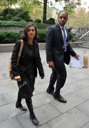 Defense Lawyers Sabrina Shroff (r) and Jerrod Thompson-hicks (l) Leave Federal Court on 06 October 2012 in New York After Their Client Terror Suspect Radical Islamist Preacher Abu Hamza Al-masri Appeared Before Us Judge Frank Maas After Being Extradited From Britain a Department of Justice Statement Said Hamza Would Face Terrorism Charges Over a Kidnapping in 1998 in Yemen the Establishment of a Terrorist Training Camp in the United States and For 'Facilitating Violent Jihad in Afghanistan ' Hamza is Charged with Two Other Suspects Khaled Al-fawwaz and Adel Abdul Bary United States New York