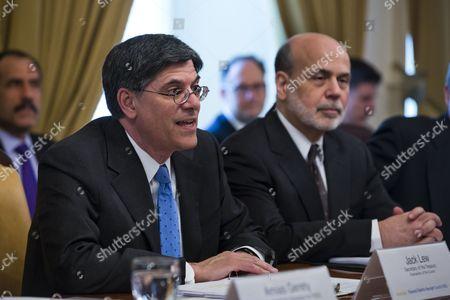Editorial picture of Usa Treasury Lew - Feb 2013