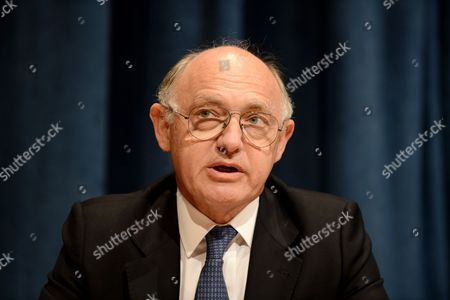 Hector Marcos Timerman Minister For Foreign Affairs of Argentina Speak to Media About the Falkland Islands at United Nations Headquarters in New York New York Usa 26 March 2013 United States New York
