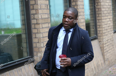 Stock Image of Kweku Adoboli Arrives at the Southwark Crown Court Southwark London Britain 19 November 2012 where He Stands Trial on Charges of Fraud by Abuse of Position and False Accounting Reports State That Adoboli is Accused of Undertaking Unauthorised Trading at Swiss Bank Ubs That Resulted in a 2 Billion Us Dollar Loss For the Bank One of the Biggest Ever Cases of Alleged Unauthorised Trading the Jury Has Retired to Consider Their Verdict United Kingdom London