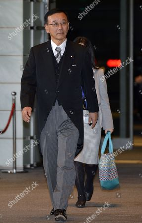 Japan's New Justice Minister Sadakazu Tanigaki Arrives at the Premier's Official Residence in Tokyo Japan 26 December 2012 Newly Appointed Japanese Prime Minister Shinzo Abe Formed a New Cabinet and Became Japan's Seventh Premier in Six Years Japan Tokyo