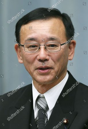 Newly Appointed Japanese Justice Minister Sadakazu Tanigaki Speaks During an Official News Conference at the Prime Minister's Official Residence in Tokyo Japan 27 December 2012 After Being Attested by Emperor Akihito Japan Tokyo