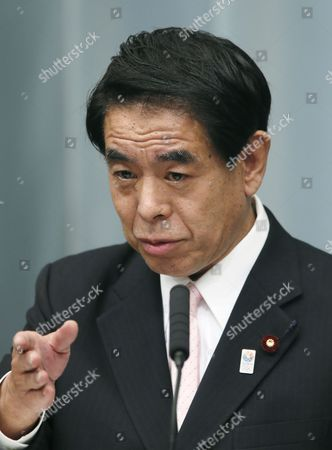 Newly Appointed Japanese Education Minister Hakubun Shimomura Speaks During an Official News Conference at the Prime Minister's Official Residence in Tokyo Japan 27 December 2012 After Being Attested by Emperor Akihito Japan Tokyo