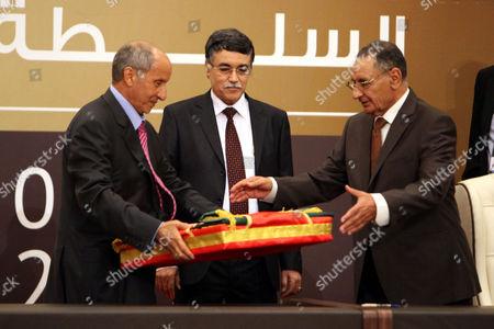 Editorial photo of Libya Transfer of Power - Aug 2012