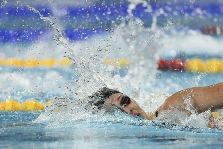 Chloe Sutton of Usa on Her Way to Win Gold Medal in the Women's 400m Freestyle Final During the World Short Course Swimming Championships in Istanbul Turkey 14 December 2012 Turkey Istanbul