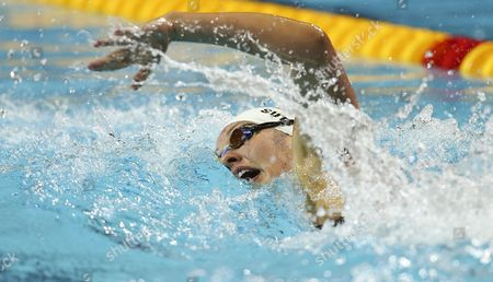 Chloe Sutton of the Usa Competes in the Women's 400m Freestyle Heat During the Short Course Swimming World Championships in Istanbul Turkey 14 December 2012 Turkey Istanbul
