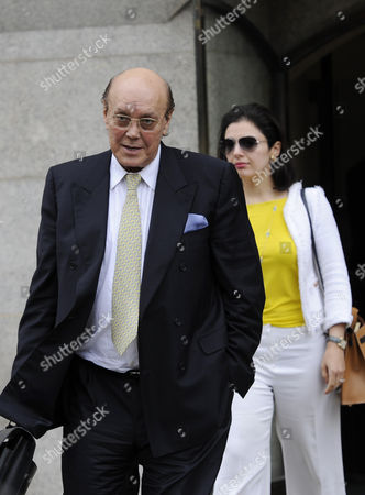 Former Business Tycoon Asil Nadir (l) Leaves the the Old Bailey After the Jury Retired to Consider Its Verdict in the Polly Peck Fraud Case London Britain 15 August 2012 Nadir is on Trial at the Old Bailey Accused of Stealing Some 34 Million Pounds From His Polly Peck Business Between 1987 and 1990 United Kingdom London
