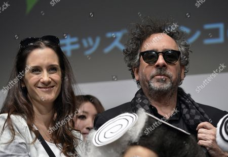 Us Film Director Tim Burton (r) and Producer Allison Abbate (l) Pose During the 'Frankenweenie Fashion Contest' at Tokyo Mode Gakuen Fashion School in Tokyo Japan 05 December 2012 Students of the Fashion School Participated in a Contest Displaying Costumes Inspired by Burton's Latest Animation Movie 'Frankenweenie' Japan Tokyo