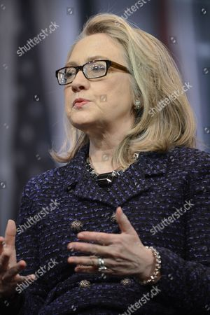 Editorial photo of Usa Government Clinton - Jan 2013