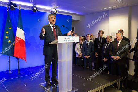 Francois Fillon, Bruno Retailleau, Bernard Accoyer and Gerard Larcher