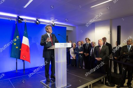Editorial photo of Francois Fillon New Year wishes press conference, Paris, France - 10 Jan 2017