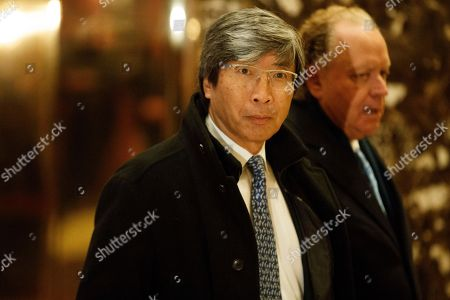 Dr. Patrick Soon-Shiong arrives in the lobby of Trump Tower in New York, for a meeting with President-elect Donald Trump