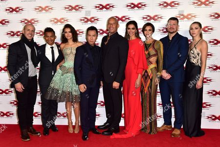 Director D J Caruso, Tony Jaa, Nina Dobrev, Donnie Yen, Vin Diesel, Deepika Padukone, Ruby Rose, Michael Bisping and Hermione Corfield