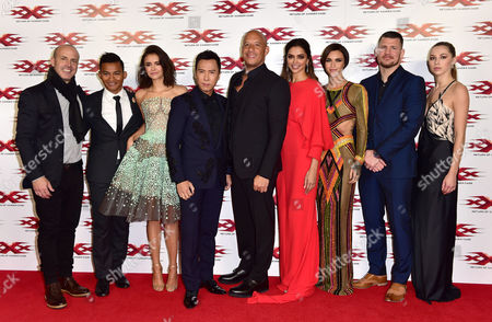 Stock Picture of Director D J Caruso, Tony Jaa, Nina Dobrev, Donnie Yen, Vin Diesel, Deepika Padukone, Ruby Rose, Michael Bisping and Hermione Corfield