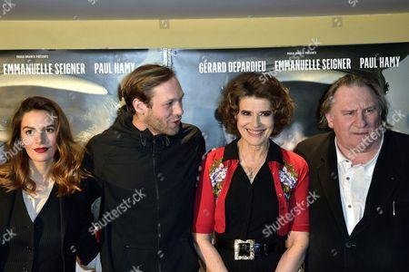 Luna Picoli-Truffaut, Paul Hamy, Fanny Ardant and Gerard Depardieu