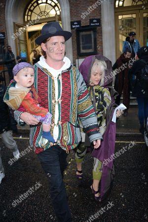 James Suckling, baby Raymond and Jaime Winstone
