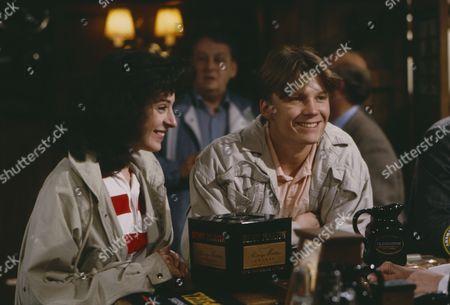 Craig McKay (as Mark Hughes) and Philomena McDonagh (as Carol Nelson) (Episode 1662 - 21st May 1992)