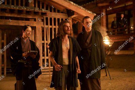 (L-R) Tadanobu Asano, Andrew Garfield, and Liam Neeson