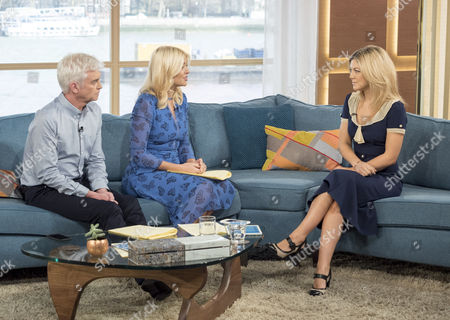 Stock Photo of Phillip Schofield, Holly Willoughby and Jessica Knowles