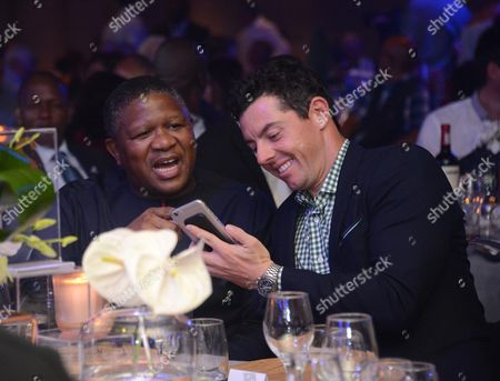Sport and Recreation Minister Fikile Mbalula and Rory McIlroy