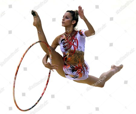 Almudena Cid of Spain Performs Her Individual Programme During the 23rd Rhythmic Gymnastics European Championships in Baku Azerbaijan 01 July 2007