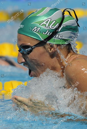Mirna Jukic of Austria Competes in the Women's 100m Breastroke Preliminary at the 13th Fina World Championships at the Foro Italico Complex in Rome Italy on 27 July 2009 Italy Rome